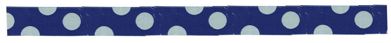 Maileg Puntíkovaná stuha blue, modrá barva, bílá barva, textil