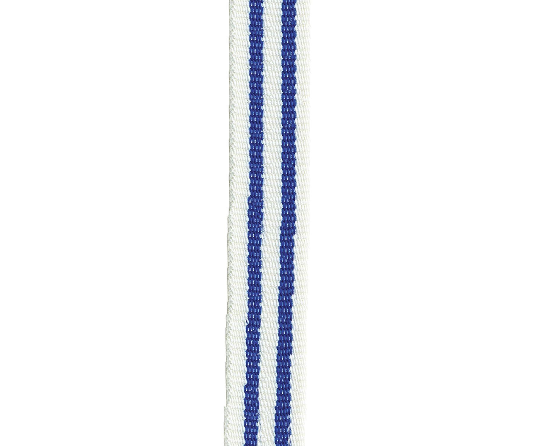 Maileg Bavlněná stuha Cobalt blue, modrá barva, bílá barva, textil