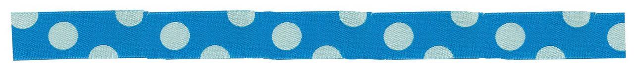 Maileg Puntíkovaná stuha turquise, modrá barva, textil