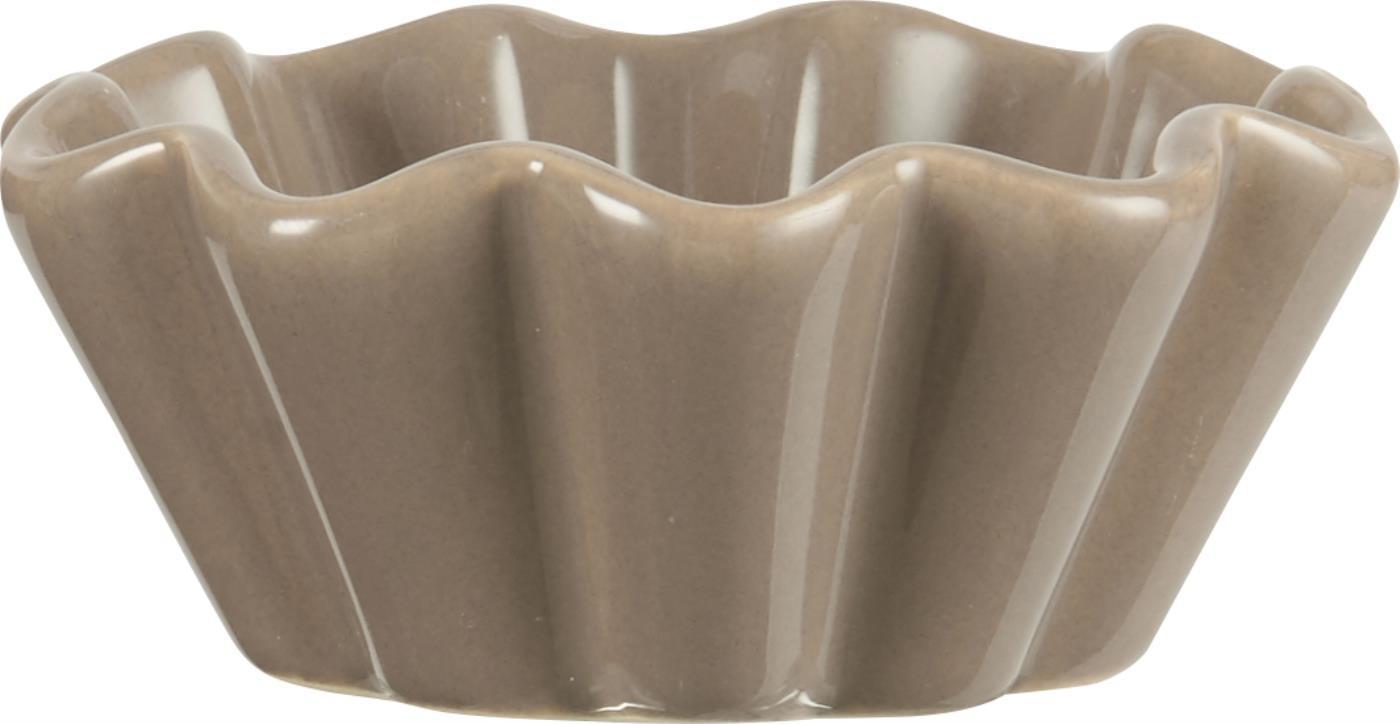 IB LAURSEN Keramická forma na muffiny Mynte milky brown, hnědá barva, keramika