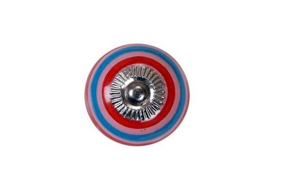 La finesse Porcelánová úchytka Stripes, multi barva, porcelán 40 mm
