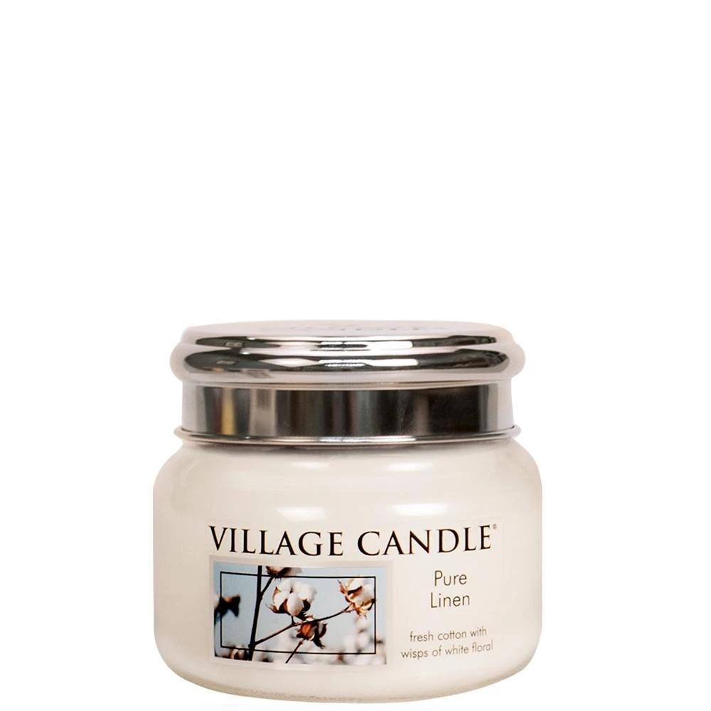 VILLAGE CANDLE Svíčka Village Candle - Pure Linen 262g, béžová barva, sklo