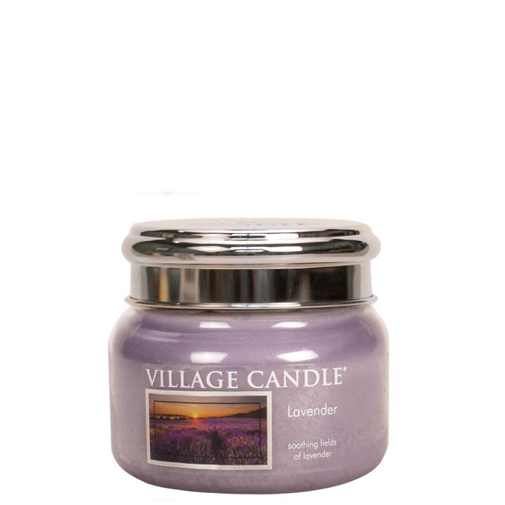 VILLAGE CANDLE Svíčka Village Candle - Lavender 262g, fialová barva, sklo