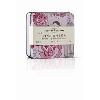 Mýdlo v plechové krabičce růžová Ambra