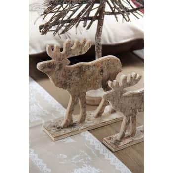 Dřevěný dekorativní sob