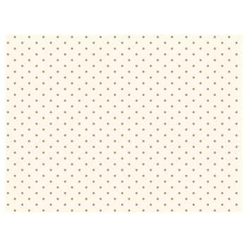 Hedvábný balící papír White Gold Dots