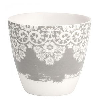 Lace warm grey - šálek na latté