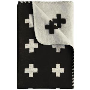Pia Wallén / Deka Cross Blanket Black 160x240
