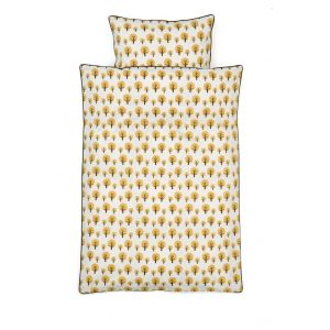 ferm LIVING / Povlečení Dotty Yellow - Adult 140x200