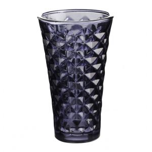 Tine K Home / Svícen Facet glass Dark purple 15 cm