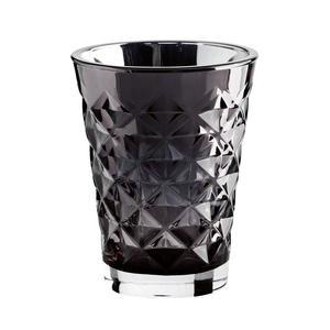 Tine K Home / Svícen Facet glass Dark Grey 10 cm