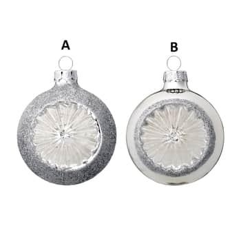 Bloomingville / Skleněná ozdoba Silver Sparkle