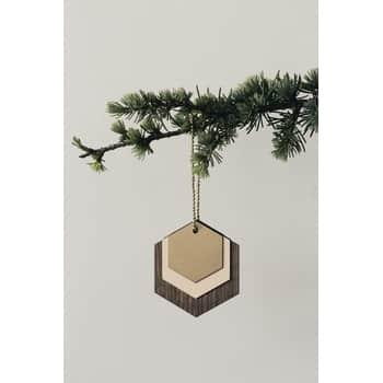 ferm LIVING / Dřevěná ozdoba Hexagon