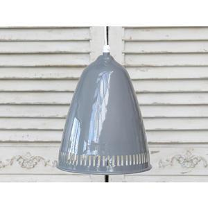 Chic Antique / Stropní lampa Enamel grooves grey