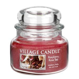 Village Candle / Svíčka ve skle Raspberry & Rose tea - malá