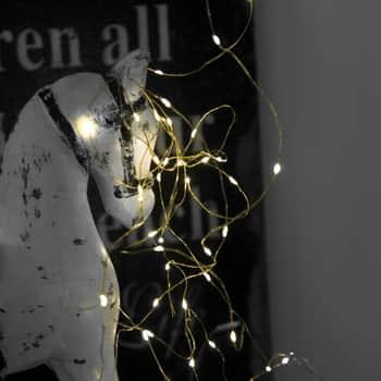 Světelný LED drátek Brass 4m