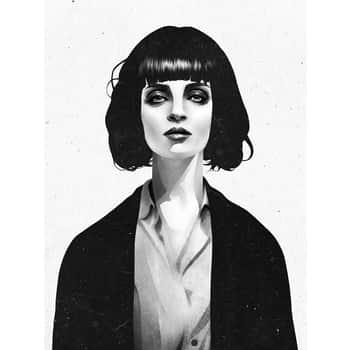 Grafický plakát Mrs Mia Wallace 50x70 cm