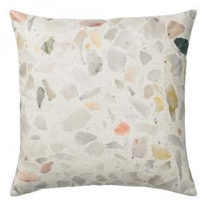 Bloomingville / Polštář Terrazzo light grey 45x45 cm
