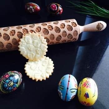Veľkonočný embosovaný valček na cesto Easter Eggs