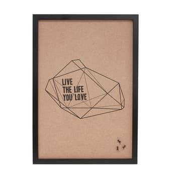 Korková nástěnka Live the Life You Love