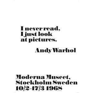 Andy Warhol / Plakát Andy Warhol - I never read