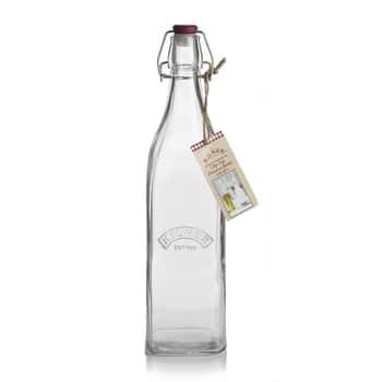 Hranatá fľaša sklipsou 1l