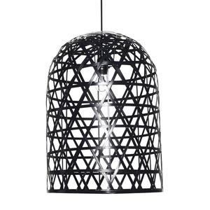 Hübsch / Lampa Black bamboo long
