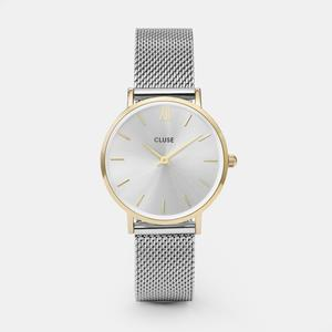 CLUSE / Hodinky Cluse Minuit Mesh gold/silver