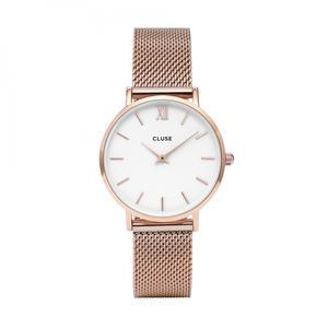 CLUSE / Hodinky Cluse Minuit Mesh Rose gold/white