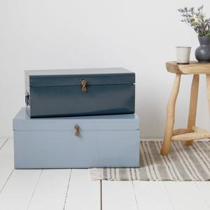 House Doctor / Kovový box Metal Blue/Grey