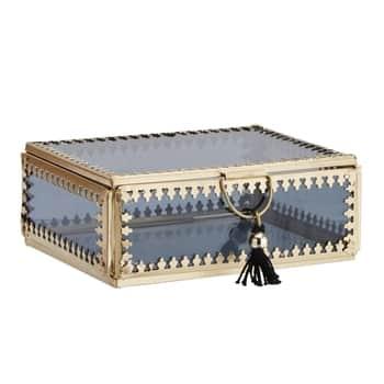 Skleněná krabička Orient Gold/black - větší