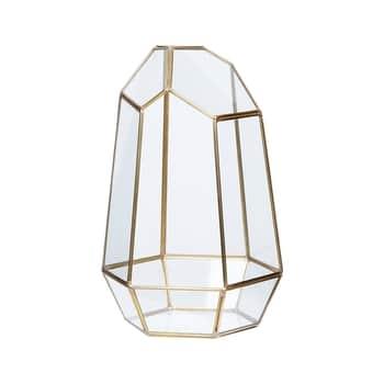 Skleněný box Polyhedron Brass