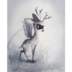 MRS. MIGHETTO / Plakát DEAR FAWN 40x50 cm - Limited Edition