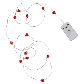 Svetelný LED drôtik Red Heart