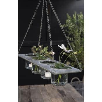 Závěsný kovový držák na vázičky/květináče