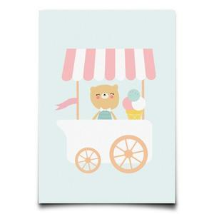 EEF lillemor / Pohlednice Party Animals – Ice Cream Cart