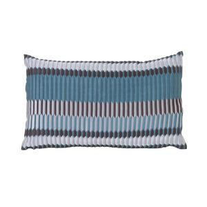 ferm LIVING / Péřový polštář Salon Cushion Pleat Sea 40x25
