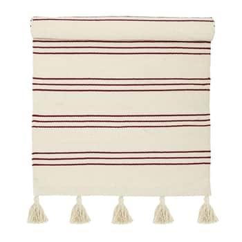 Bavlněný kobereček Red Stripe 60x120 cm