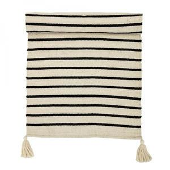 Bavlnený koberec Black Stripe 70x240 cm