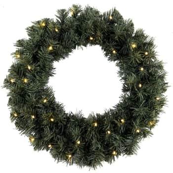 Svítící vánoční věnec Ottawa 50 cm