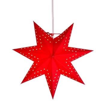 Závěsná svítící hvězda Bobo Red 34 cm