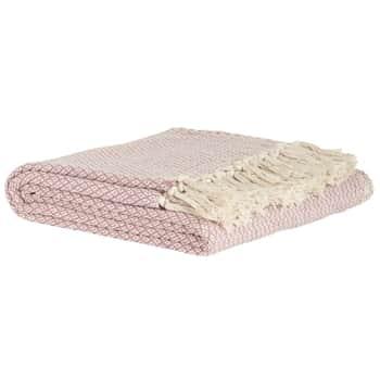 Bavlněný přehoz Pink Throw 130x160cm