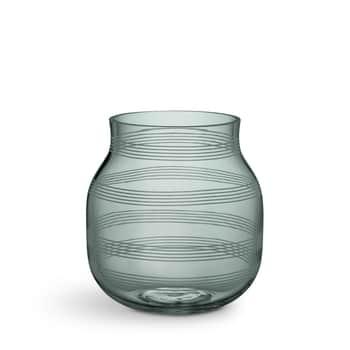 Skleněná váza Omaggio Green 17 cm