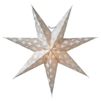 Závěsná svítící hvězda Silvia White-Silver 60 cm