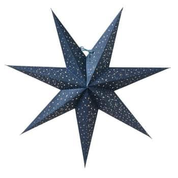 Závěsná svítící hvězda Helsinki Blue 60 cm