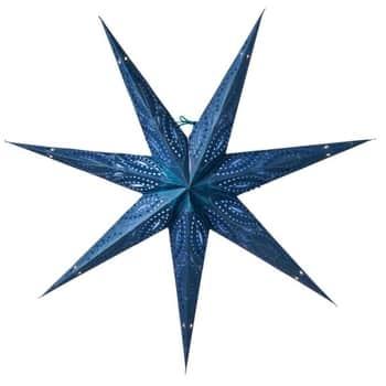 Závěsná svítící hvězda Ebba Blue 80 cm