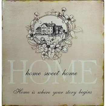 Plechová cedule Home