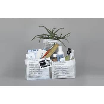 Úložný sáček zvoskovaného papíru La Corbeille en Papier - set 8 ks