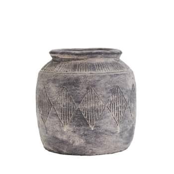 Cementová váza Antique grey