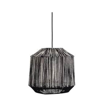 Závesná lampa Black/White Jute
